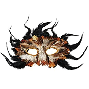 Owl Feather Masquerade Eye Mask Fancy Dress (máscara/careta)