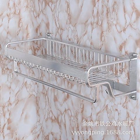 Queen's Appendere Hardware wc Portasalviette bordo largo spazio con un gancio alluminio asciugamano da bagno Cestello di rete,montato a parete il portasciugamani,Accessori bagno