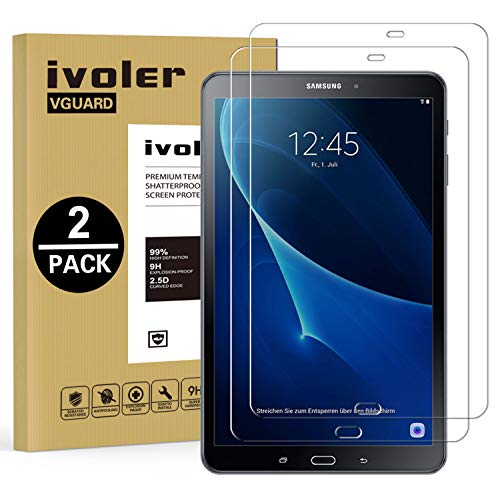 vetro tablet iVoler [2 Pack] Vetro Temperato Compatibile con Samsung Galaxy Tab A 10.1 Pollici (T580N/T585N)