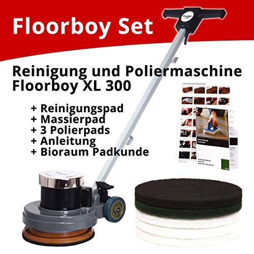 Preisvergleich Produktbild Floorboy XL 300 Reinigungs- und Poliermaschinen Set mit Anleitungen, Pads und Padkunde von Bioraum