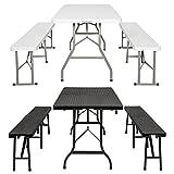 TecTake Campingmöbel Set Bierzeltgarnitur Camping Garnitur klappbar - Diverse Farben -