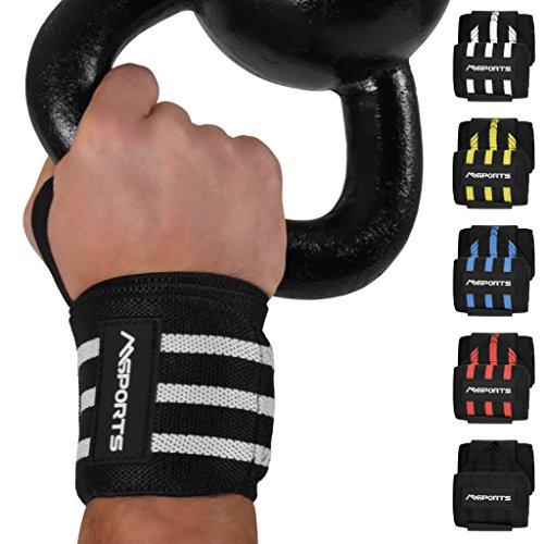 Handgelenkbandage 2er Set Handgelenkstütze verstellbare Handbandage für Frauen und Männer geeignet | zur wirkungsvollen Unterstützung und Entlastung | Handgelenkschoner (Schwarz)