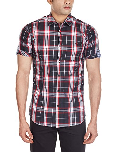 Gas Men's Casual Shirt (8034069925150_66561_XX-Large_Black)  available at amazon for Rs.1885