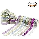 14 Rotoli multicolore Washi Nastro Decorativo Lace Fascino Autoadesivo di Mascheramento Fai da te Scrapbooking Decorazione AdesiviSelf-adhesive lace style tapes