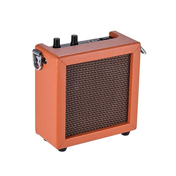 ammoon Amplificatore Batteria Caricata Basso Chitarra Mini Ukulele Ukelele Altoparlante Amp Alta Sensibilità 3 Watt 9 Volt con Volume Tone Control