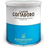 Caffè Costadoro - Costadoro Decaffeinato, 100% Arabica, Macinato - Lattina da 250g