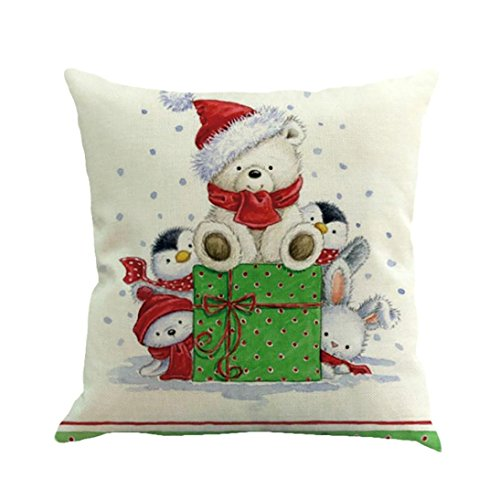 inting Dyeing Cushion Cover Sofa Bed Home Decor Pillow Case (45cmx45cm, F) (Glitter Happy Halloween)