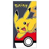 Pokemon 2200002391140x 70cm Pikachu mit Poke Ball und Badetuch Strandtuch