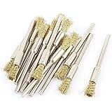3 mm redondo filo tono de oro con forma de lápiz herramientas Cepillos de alambre pulido 16 piezas