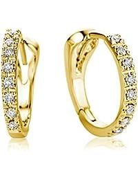 Miore M0486Y 18 Karat (750) Gelbgold Ohrringe, MIT 16 (0,1 cts) Diamanten