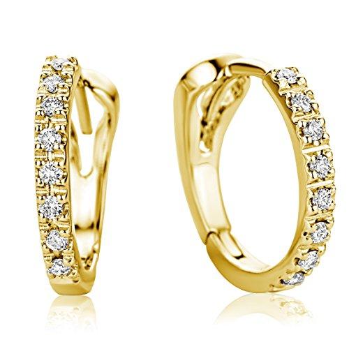 Miore Ohrringe Damen Creolen  Gelbgold 18 Karat / 750 Gold  Diamant Brillianten 0.10 ct