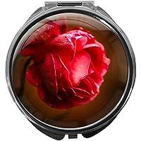 Pillendose/rund/Modell Leony/Natur - Blumen/ROSE preisvergleich bei billige-tabletten.eu