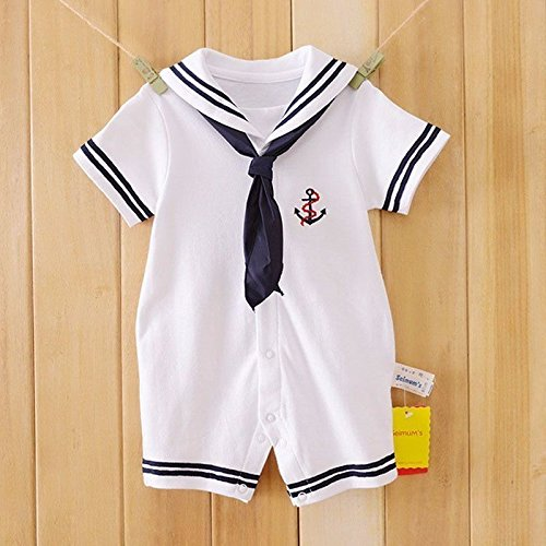 Month 12 Kostüm 18 Girl - Zooarts Unisex-Babystrampler für Neugeborene, Matrosen-Look, für Fotoaufnahmen oder als Sommeroutfit, für Mädchen und Jungen von 0-18 Monaten, multi, 80 (12-18months)