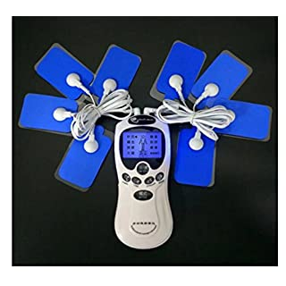 CR-Rechargeable Tens Unit Pulse Stimulator Health Herald electrostimulator electrodes Sports electrostimulation Health for the treatment and management of pain (back, neck, shoulders, leg and sciatica) (With 8 electrodes)