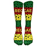 HJKAA Highly Elastic,Durable, Flexible,calze Reggae Hemp Cannabis Casual Unisex Sock Knee Long High Socks Sport Athletic Crew Socks One Size 50CM