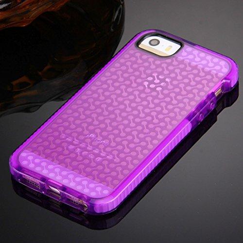 Wkae Case & Cover Pour iPhone 5 &5s &SE Housse de protection TPU Texture Haltère ( Color : Black ) Purple