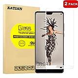 [2 Pack] Huawei P20 Protecteur D'écran, KATIAN 0.3mm Film [Anti-empreintes][Résistant aux Rayures][sans Bulles] HD 99% Haute Transparence Screen Protector Verre Trempé pour Huawei P20 (Noir)