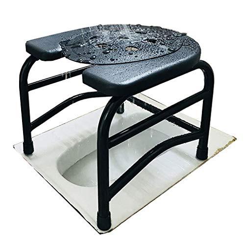 Firsthgus Mobile pour Le Chevet du Tabouret de Douche, Chaise de Toilette portative antidérapante, Convient aux Adultes obèses, aux Personnes âgées, aux Femmes Enceintes, aux Personnes handicapées