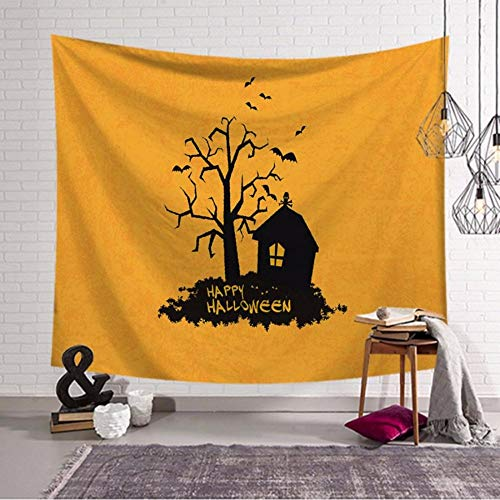 l Tapisserie Halloween Trick Treat Horror Geist Wandbehang Home Decor-150cmx150cm ()