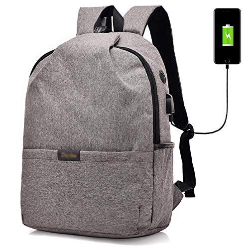 LAZ Tragbarer, lässiger Rucksack, multifunktionaler Laptop-Rucksack mit Diebstahlsicherung und USB-Ladeschnittstelle. Verschleißfester Oxford Spinning Hiking Riding-Rucksack