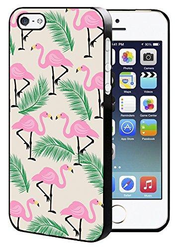SaiCase Hartschalen-Schutzhülle für iPhone 5 / 5S / SE, Motiv: Flamingo in den Palmen - 5 Sprint Iphone