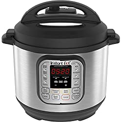 Instant Pot Duo V2 7-in-1 Electric Pressure Cooker, 6 Qt, 5.5L 1000 W, Brushed Stainless Steel/Black, 220-240v, Stainless Steel Inner Pot