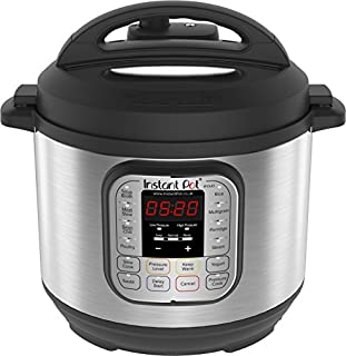 Instant Pot Duo V2 7-in-1 Electric Pressure Cooker, 6 Qt, 5.5L 1000 W, Brushed Stainless Steel/Black, 220-240v, Stainless Steel Inner Pot (B00OP26T4K) | Amazon Products