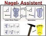 Nagelassistent f. Wand und Boden Nagel Assistent Händeschutz vor Hammer Werkzeug