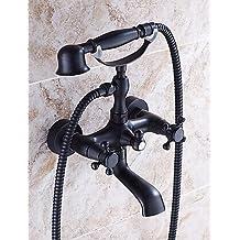 KISSRAIN® Vasca da bagno rubinetto - Tradizionale - Handshower Incluso - Ottone (olio strofinato bronzo)