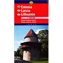 Carte routière : Estonia, Latvia and Lithuania
