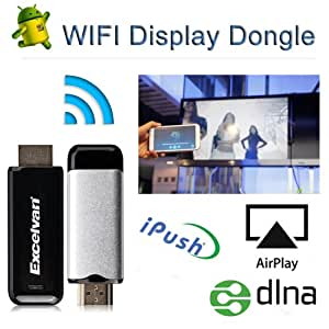 Excelvan™ 1080P Wireless HDMI Media Share DLNA WiFi AirPlay TV Stick for Samsung Galaxy, HTC ONE, Google Nexus, Smart phone and PAD Device