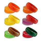 Bestomrogh 1Pcs Fruits Cristal Boue Argile Bricolage Transparent 6 Couleur Fruits Couleur Boue Jouets éducatifs pour Enfants Cadeaux pour Enfants...