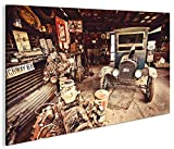 islandburner Bild Bilder auf Leinwand Alter Ford T-Modell Route 66 1K XXL Poster Leinwandbild Wandbild Dekoartikel Wohnzimmer Marke