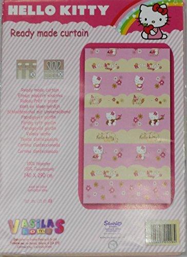 Pannello Tenda Hello Kitty Colore Rosa 140x290 con Passanti