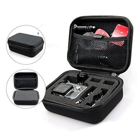 Étui de Transport Protecteur, Sac Sacoche Antichoc Antipoussière pour GOPRO HERO 5 4 3 2 1 et Accessoires (Noir, 15.5cmx11cmx6.5cm)