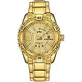 NaviForce NF9117N Men's Sport Stainless Steel Wrist Quartz Watch - Gold