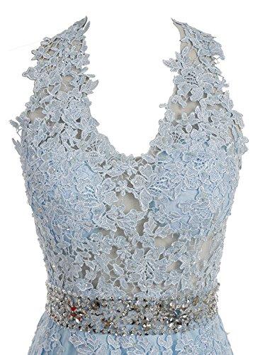 Bbonlinedress Robe de cérémonie Robe de soirée en dentelle tulle forme empire longueur ras du sol Menthe