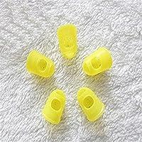 ETGtek(TM) Protector de dedos guitarra del dedo protectores Profesional de silicona para Ukulele color al azar L (paquete de 5)
