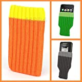 Marke Incutex, Handysocke / Handy Socke orange passend für Iphone 2G, 3G, 3GS, 4S, 5 / 5C / 5S ,...