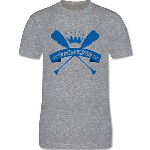 Wassersport - Paddelkönig - Herren Premium T-Shirt Grau Meliert