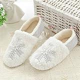 Zapatillas de Estar por Casa de Mujeres Invierno Algodón Antideslizante Zapatos de Interior de...