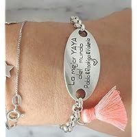 Pulsera La mejor yaya, regalo abuela, regalos personalizados abuelas.