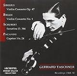 Gerhard Taschner plays Sibelius, Bruch, Schubert & Paganini