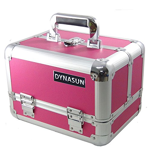 DynaSun aluminium schmuckfach maquillage trousse de toilette multicolore 31 cm, rouge (Rouge) - sku