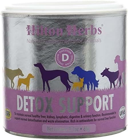Hilton Herbs Detox Support Complément Alimentaire pour Chien Boîte de 60g