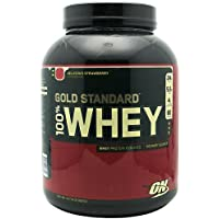 Optimum Nutrition Gold Standard 100% Whey Delicious Strawberry – -5 lbs by Optimum Nutrition