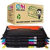 OFFICE HELPER CLT-K406S kompatibel Tonerpatronen für Samsung CLP-360 CLP-360N CLP-365 CLP-365W CLP-368 CLX-3300 CLX-3305 CLX-3305FN CLX-3305N CLX-3305W CLX-3305FW Xpress C410W C460W C460FW C467W (Schwarz, Cyan, Magenta, Gelb)
