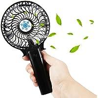 Mini USB Ventilateur, Samione Mini Ventilateur à la Main Silencieux Pliable Ventilateur Mini Fan Compatible Pour Chambre Bureau De plein air Voyage [Noir]