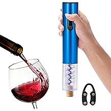 Abrelatas de botella de vino, Aken ® marca de baterías de aleación de aluminio de alto grado de material abridores automáticos de botella y regalo libre botella de vino hoja de cortador(Blue)