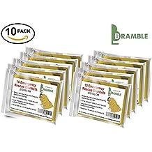 Bramble - Manta de Aluminio de Emergencia - Manta Multi-Uso de Protección Térmica. Hoja Carpa de Supervivencia Impermeable (10)